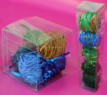 """3x3x3"""" Clear Plastic PVC Boxes for Party Favor Wedding, retail products packaging"""