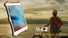 LOVE MEI MK2 Powerful Metal Aluminium+Gorilla Glass +LEATHER FLIP COVER Hybrid Case for IPAD PRO LOVE MEI Case ANTI-SHOCK