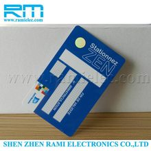 new product Cheap plastic rfid contactless smart card whit chip/nfc business card from china alibaba