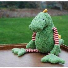 Stuffed plush green crocodile cute sea animal