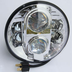 Harley parts Opplight wholesale H4 round led headlight for jeep