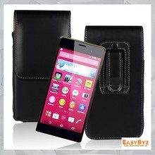 Black Vertical Leather Pouch Belt Clip Holster Case for Sony Xperia Z4, Cellphone Leather case for Sony Z4