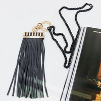 New Fashion Necklace Leather Tassels Pendant Necklace Brand Long Chain Women Costume Jewelry