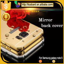 Hot aluminum metal frame bumper mirror back cover case for samsung galaxy note 5