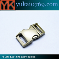 China supply various size Custom adjustable side release metalt buckle for backpack
