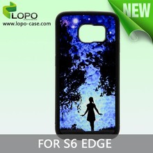 Blank Sublimation TPU cell phone case for Samsung Galaxy S6 edge