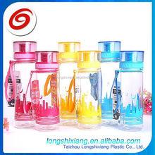 2015 su şişesi 500ml, çift cidarlı plastik soda şişeleri, plastik su şişesi logo baskı