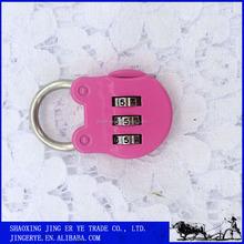 Security Digital Lock,Pink 3 digit Zinc Alloy Combination Lock