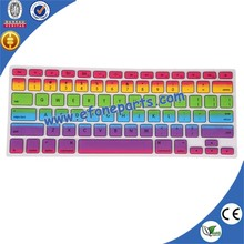 hot sale colored laptop keyboard skin, colorful laptop keyboard cover, silicone keyboard protectorin China