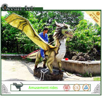 Animatronics European dragon for amusement equipment
