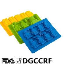 Hueco de Lego ladrillos y figuras tonto caramelo moldes helados herramientas y silicona bandejas de cubitos de hielo