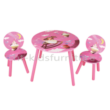 HT-PR001 60*60*(H)48cm E1 MDF Easy Assembly Princess Style Wooden Kids Furniture, Wooden Kids Bedroom Furniture For Wholesale