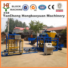 low investment QTJ4-25D concrete/cement block making machine for buiding house