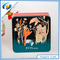 2015 hot sale square iron box tin cans for food shortage candy storage