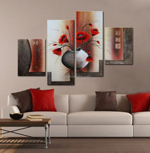 Free Sample decorative canvas oil painting