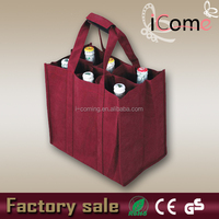 2015 Hot Selling Eco-friendly 6 bottle wine bag