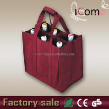 2015 Hot Selling Eco-friendly 6 bottle wine bag