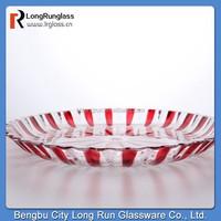 LongRun hot sale crystal colored glass fruit plate