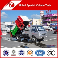Dongfeng Euro 4 4*2 garbage can cleaning truck