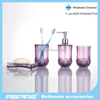 Bathroom Accessories acrylic colorful bathroom set memorial