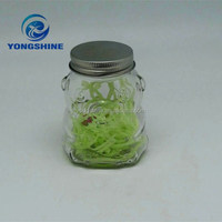 180ml animal-shaped glass jar with tin lid