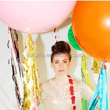 New decoration ideas giant balloon with tassels