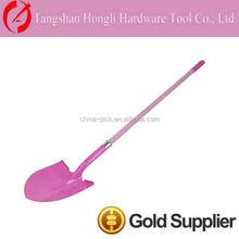 pink half round shovel