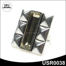fashion zinc alloy big stone mens ring