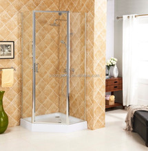 FOCA 6031 shower room with brushed nickel finish glass