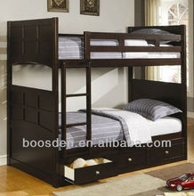 bedroom furniture wooden storage single bunk bed, cheap wooden bed, bunk bed with drawers BSD-455024