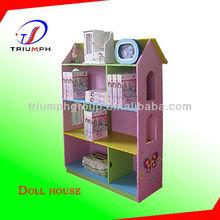Fashion wooden diy miniature dollhouse, funny educational doll house