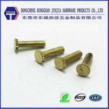 M5x15 High quality Decorative knurled head brass fastening screws