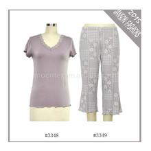 wholesale 2015 latest new design fashion pajama/sleep wear set for women