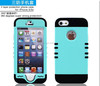 3 in 1 Hybrid Rugged Combo Cover Case for Apple iPhone 5 5S