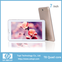 T8 Quad Core kids tablet pc 7 inch Android 4.4.2 MTK 8382 Front 0.3 MP /Rear 2.0 MP 2700Mah