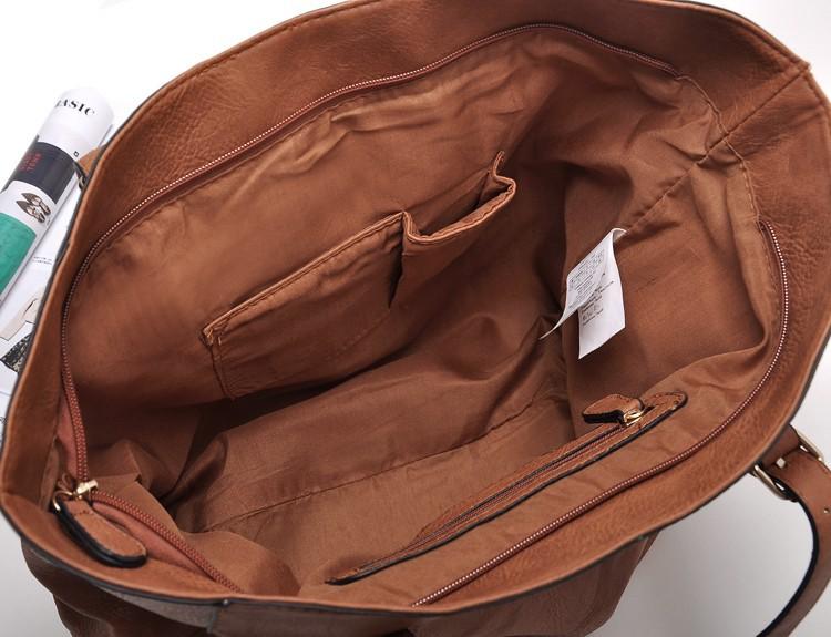 Весенние и летние сумки Французская мода ретро коричневая сумка ноутбук минималистский атмосферу c331
