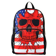 School backpack with skull printing design