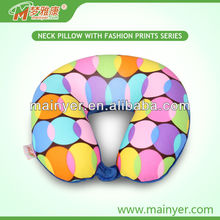 hot selling cheap wholesale printing cushion Travel pillow with printings