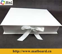 high quality luxury photo box with matboard presentation box set