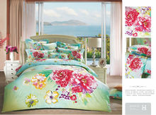 Reactive printed red rose 100% sateen cotton bedclothes bed sheet set for home