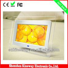 Preto / branco / Display de 7 polegada tela de LCD de alta qualidade Digital Photo Frame