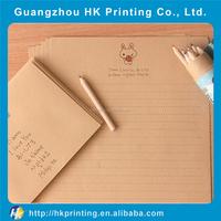 wholesale beautiful brown kraft paper love letter envelope printed