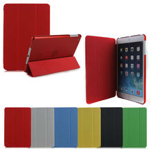 High Quality stand case for ipad mini with crystal back cover
