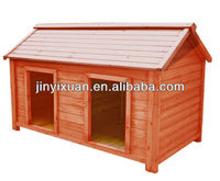 Hot sales! Large dog house with 2 rooms / Double dog kennel