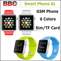 2015 New A1 Bluetooth Sport GSM Smart Watch Phone Color Wrist Watch for Android Phone