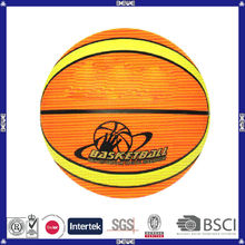 promotional customized logo rubber basketball for youth