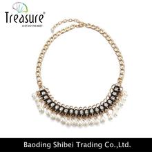 2015 Lowest price popular big silver necklace NL10489