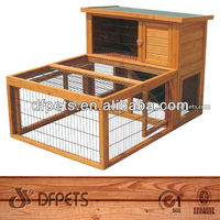 Waterproof Wooden Bunny Cottage DFR046&Run