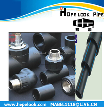 China ISO4427/AS/NZS4130 water supply hdpe pipe fitting saddle clamp