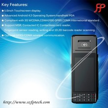 Touch screen 5 inches high compatible GPRS Android system EMV card reader and writer with barcode reader and 3G use for payment